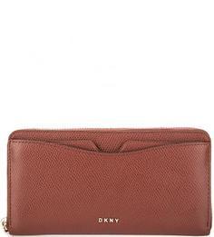 Кожаный кошелек с карманами Dkny