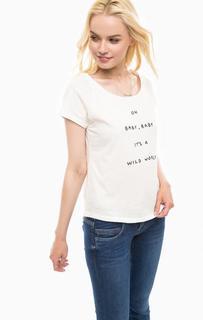 Хлопковая футболка с короткими рукавами Pepe Jeans