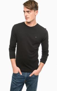Черная футболка с круглым вырезом Hilfiger Denim