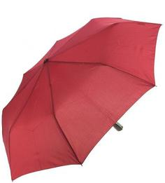 Однотонный бордовый складной зонт Doppler