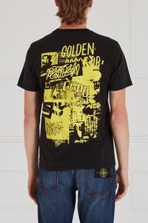 Хлопковая футболка Golden Goose