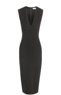 Платье-футляр с глубоким V-образным вырезом Victoria Beckham