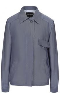 Куртка свободного с отложным воротником Giorgio Armani