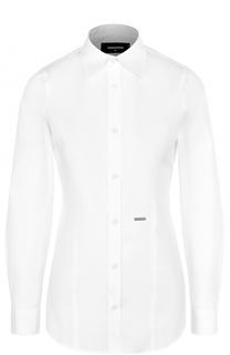 Приталенная блуза из эластичного хлопка Dsquared2