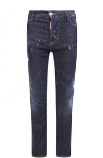 Укороченные джинсы с декоративной отделкой Dsquared2
