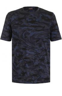 Хлопковая футболка с камуфляжным принтом Paul&Shark Paul&Shark