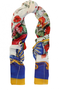 Шелковые шарф с принтом Dolce & Gabbana