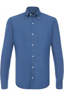 Хлопковая сорочка с воротником button down Ermenegildo Zegna