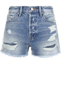Джинсовые шорты с потертостями Frame Denim