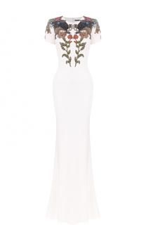 Приталенное платье с вышивкой Alexander McQueen