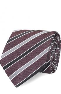 Шелковый галстук в полоску Dolce & Gabbana