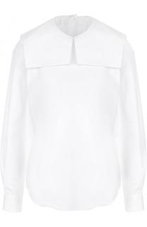 Хлопковая блуза прямого кроя Comme des Garcons GIRL
