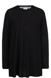 Удлиненный пуловер свободного кроя Comme des Garcons