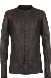 Кожана куртка с эффектом крэш Masnada