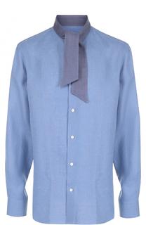 Хлопковая рубашка с воротником аскот Caruso