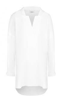 Блуза свободного кроя с удлиненной спинкой DKNY