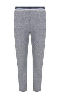 Хлопковые брюки прямого кроя с эластичным поясом Ermenegildo Zegna