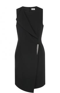 Приталенное мини-платье без рукавов DKNY