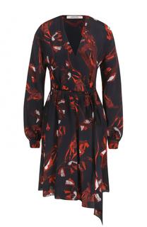 Приталенное платье с V-образным вырезом и принтом Dorothee Schumacher