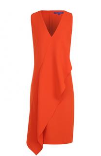 Платье прямого кроя с оборкой Ralph Lauren