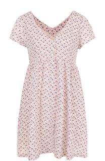 Приталенное мини-платье с цветочным принтом Denim&Supply by Ralph Lauren