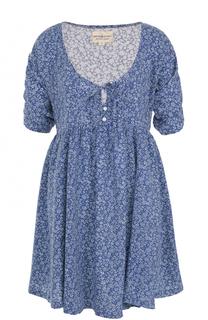 Мини-платье с завышенной талией и цветочным принтом Denim&Supply by Ralph Lauren