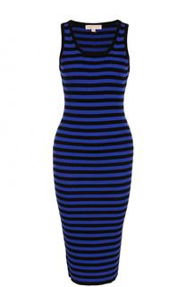 Вязаное платье-футляр в полоску MICHAEL Michael Kors