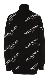 Свитер свободного кроя с логотипом бренда Balenciaga