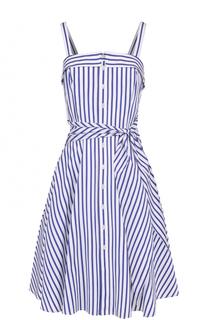 Приталенное платье-миди в полоску Polo Ralph Lauren