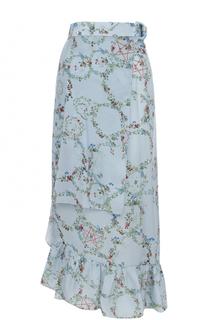 Шелковая юбка асимметричного кроя с запахом PREEN by Thornton Bregazzi