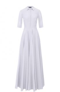 Приталенное платье-рубашка с укороченным рукавом Tegin