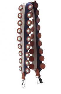 Ремень для сумки с отделкой из кожи с заклепками Fendi