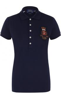 Приталенное поло с контрастной вышивкой Polo Ralph Lauren
