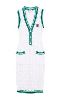 Облегающее вязаное платье без рукавов Stella Jean