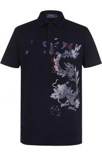 Хлопковое поло с принтом Polo Ralph Lauren