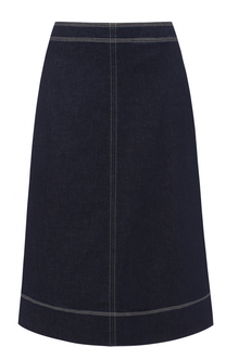 Джинсовая юбка-миди А-силуэта Fay