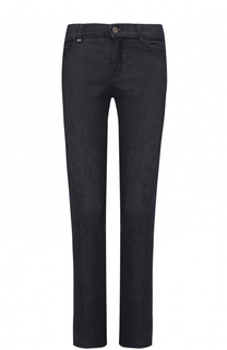 Однотонные джинсы прямого кроя HUGO
