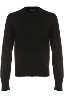 Шерстяной однотонный джемпер Dolce & Gabbana