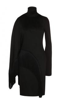 Платье-миди асимметричного кроя с бахромой Givenchy