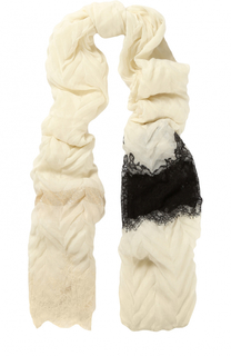 Кашемировый палантин с кружевными вставками Vintage Shades