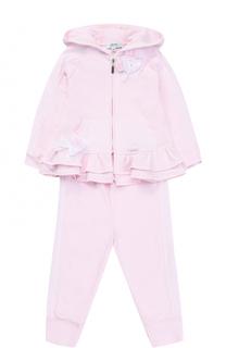 Хлопковый комплект из брюк с кардиганом и футболкой Aletta