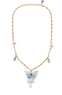 Колье с подвеской и отделкой из кристаллов Swarovski Dolce & Gabbana