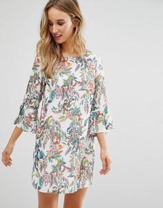 Цельнокройное платье с цветочным принтом Love - Мульти