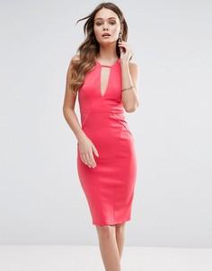 Облегающее платье с вырезом капелькой Lipsy - Оранжевый