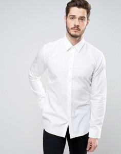 Классическая рубашка слим из поплина HUGO by Hugo Boss Elisha - Белый