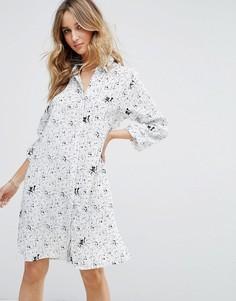 Платье-рубашка с принтом Vila - Мульти