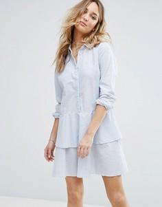 Платье-рубашка с баской Vila - Мульти
