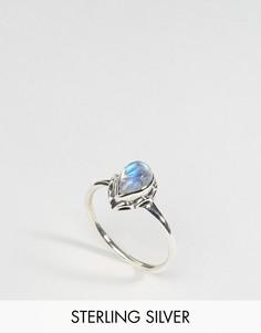 Серебряное кольцо с лунным камнем Rock N Rose - Серебряный