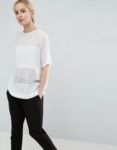 Тканая футболка ASOS - Белый