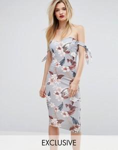 Платье миди с цветочным принтом Missguided - Мульти